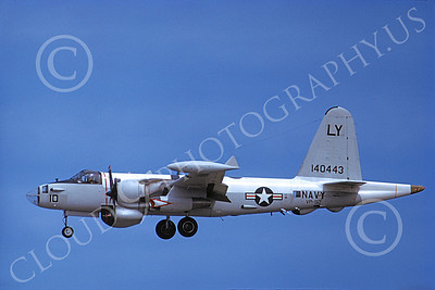 P-2USN 00086 A landing Lockheed SP-2H Neptune USN 140443 VP-92 MINUTEMEN 9-1973 military airplane picture by Michael Grove, Sr