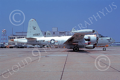 P-2USN 00093 A static Lockheed SP-2H Neptune USN 145917 VP-94 CRAWFISHERS 1-1975 military airplane picture by David Fox