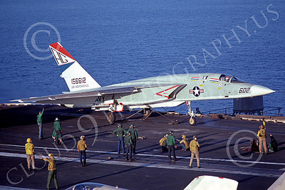RA-5C 00036 A North American RA-5C Vigilante USN 156612 RVAH-12 SPEARTIPS on USS Independence 12 Aug 1977 military airplane picture by Duane Briones