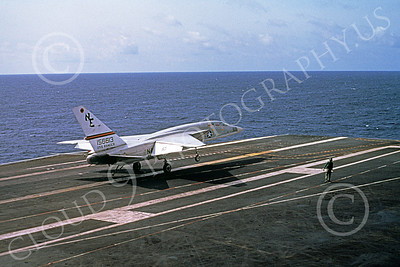 RA-5C 00058 A North American RA-5C Vigilante USN 156613 RVAH-3 SEA DRAGONS on USS Ranger Sept 1976 military airplane picture by Gene MacDonald