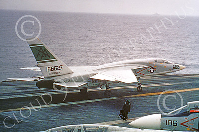 RA-5C 00904 North American RA-5C Vigilante USN 156627 RVAH-9 HOOT OWLS on an aircraft carrier by Clay Jansson