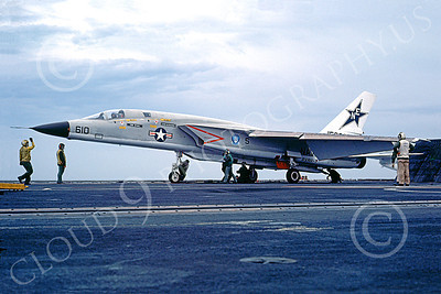 RA-5C 00040 A North American RA-5C Vigilante USN 156608 RVAH-7 PEACEMAKERS OF THE FLEET 20 Oct 1978 military airplane picture on an aircraft carrier by Robert L Lawson