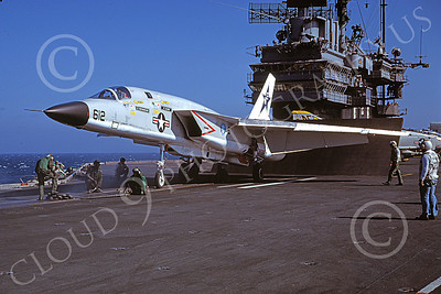 RA-5C 00086 A North American RA-5C Vigilante USN 156608 RVAH-7 PEACEMAKERS OF THE FLEET on USS Ranger 20 Oct 1978 military airplane picture by Robert L Lawson