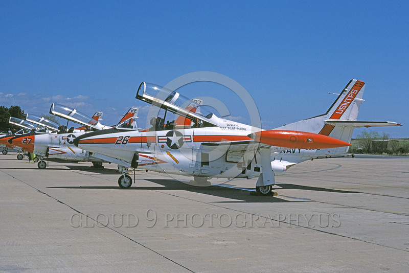 T-2USN 00091 A static North American Aviation T-2C Buckeye US Naval Test Pilot School NAS Pax River 7-1979 military airplane picture by David F Brown