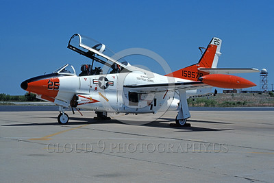 T-2USN 00003 A static North American Aviation T-2C Buckeye USN 158578 US Naval Test Pilot School NAS Pax River 5-1985 military airplane picture by David F Brown