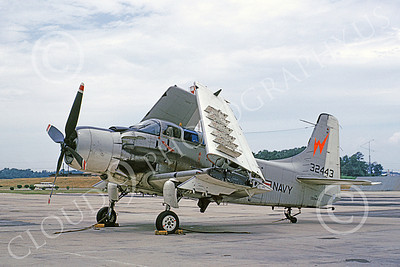 A-1USN 00033 Douglas A-1E Skyraider USN 132443 Weapons Test and Evaluation July 1963, by Clay Janson