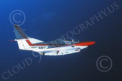 T-2USN 00012 A flying North American Aviation T-2C Buckeye USN 158579 US Naval Test Pilot School 10-1987 military airplane picture by Robert L Lawson