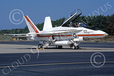 McDonnell Douglas TF-18A-USN 00003 A static white McDonnell Douglas TF-18A Hornet USN 161356 USNTPS NAS Pax River 10-1987 military airplane picture by Robert L Lawson