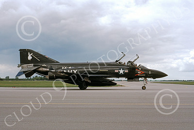 F-4USN 00386 McDonnell Douglas F-4J Phantom II US Navy VX-4 VANGUARDS, military airplane picture, by Michael Grove, Sr