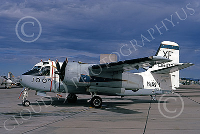 S-2USN 00069 A static Grumman US-2A Tracker USN 136473 VX-4 VANGUARDS XF code NAS Pt Mugu 10-1972 military airplane picture by Michael Grove, Sr