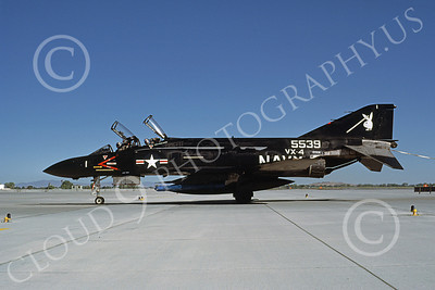 F-4USN 00156 McDonnell Douglas F-4J Phantom II US Navy 155539 VX-4 VANGUARDS NAS Fallon June 1985, by Michael Grove, Sr