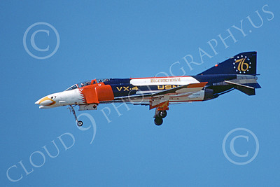 F-4USN 00602 A landing McDonnell Douglas F-4 Phantom II US Navy VX-4 EVALUATORS BICENTENNIAL 11-1975 military airplane picture by Michael Grove, Sr