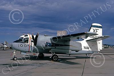 S-2USN 00069 A static Grumman US-2A Tracker USN 136473 VX-4 VANGUARDS XF code NAS Pt Mugu 10-1972 military airplane picture by Michael Grove, Sr