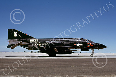 F-4USN 00046 McDonnell Douglas F-4J Phantom II US Navy VX-4 VANGUARDS NAS Fallon June 1985, by Michael Grove, Sr