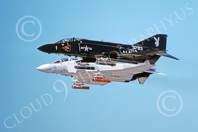 F-4USN 00356 McDonnell Douglas F-4J Phantom II US Navy VX-4 VANGUARDS Nov 1977, by Michael Grove, Sr