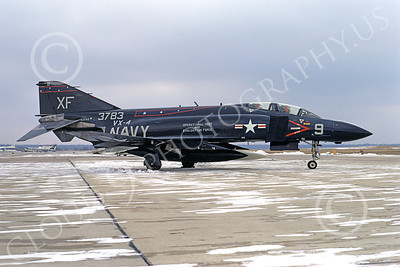F-4USN 00400 McDonnell Douglas F-4J Phantom II US Navy 153783 VX-4 VANGUARDS 10 Jan 1971, military airplane picture, by Michael Grove, Sr D