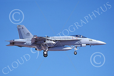 Boeing F-18E-USN 00028 A landing Boeing F-18E Super Hornet USN 165535 VX-9 VAMPIRES XE code 8-1999 military airplane picture by Michael Grove, Sr