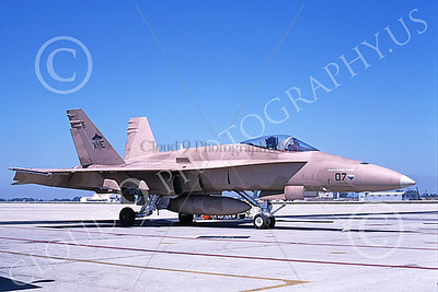 McDonnell Douglas F-18A-USN 00039 A static McDonnell Douglas F-18A Hornet USN VX-9 VAMPIRES NAS Pt Mugu 9-1994 military airplane picture by Mick Roth