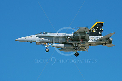 Boeing F-18C-USN 00064 A landing Boeing F-18C Hornet USN 164976 VX-9 VAMPIRES XE code 8-2002 military airplane picture by Michael Grove, Sr