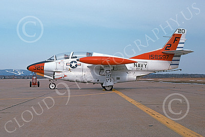 T-2USN 00051 A static North American Aviation T-2C Buckeye USN 158597 VT-4 Warbucks 3-1975 military airplane picture by Michael Grove, Sr