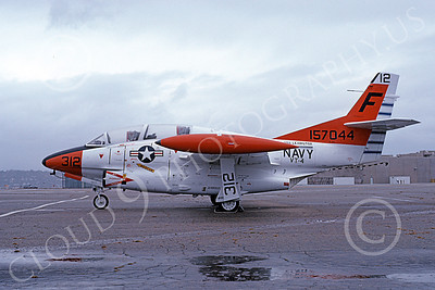 T-2USN 00069 A static North American Aviation T-2C Buckeye USN 157044 VT-4 Warbucks USS Lexington NAS North Island 11-1978 military airplane picture by Michael Grove, Sr