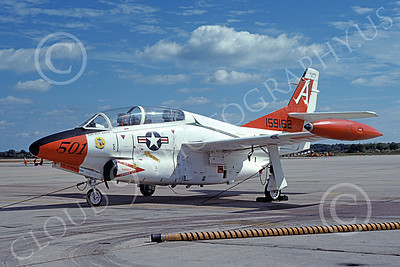 T-2USN 00035 A static North American Aviation T-2C Buckeye USN 159162 VT-19 FROGS NAS Oceana 10-1981 military airplane picture by Stephen H Miller