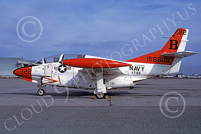 T-2USN 00047 A static North American Aviation T-2C Buckeye USN 158608 VT-23 PROFESSIONALS NAS Moffett 12-1980 military airplane picture by Michael Grove, Sr