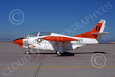 T-2USN 00033 A static North American Aviation T-2C Buckeye USN 159714 VT-23 PROFESSIONALS commanding officer's NAS North Island 4-1979 military airplane picture by Michael Grove, Sr