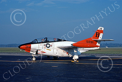 T-2USN 00039 A static North American Aviation T-2C Buckeye USN 158911 VT-23 PROFESSIONALS 11-1981 military airplane picture by Michael Grove, Sr