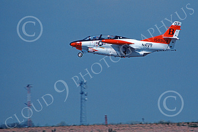 T-2USN 00040 A flying North American Aviation T-2C Buckeye USN 158903 VT-23 PROFESSIONALS 4-1981 military airplane picture by Barry E Roop