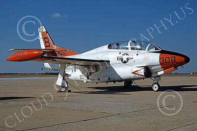 T-2USN 00049 A static North American Aviation T-2C Buckeye USN 158607 VT-23 PROFFESSIONALS commanding officer's NAF Washington 2-1994 military airplane picture by Tony Taitel