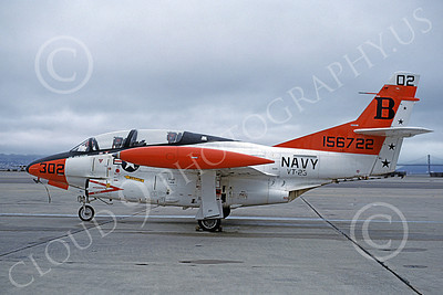 T-2USN 00075 A static North American Aviation T-2C Buckeye USN 156722 VT-23 PROFESSIONALS NAS Alameda 12-1981 military airplane picture by Michael Grove, Sr