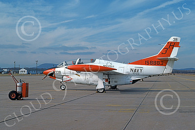 T-2USN 00043 A static sharkmouth North American Aviation T-2C Buckeye USN 158883 VT-23 PROFESSIONALS 3H code 11-1974 military airplane picture by Ron McNeil