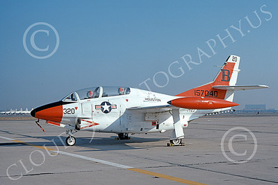 T-2USN 00073 A static North American Aviation T-2C Buckeye USN 157040 VT-23 PROFESSIONALS NAS Moffett 3-1976 military airplane picture by Michael Grove, Sr