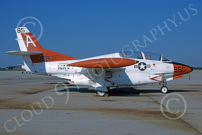 T-2USN 00085 A static North American Aviation T-2C Buckeye USN 158321 VT-9 TIGERS 8-1984 military airplane picture by Bill Kane