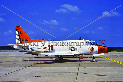 T-39USN-VT-86 001 A static red and white North American T-39D Sabreliner, USN 151337,  VT-86 SABREHAWKS, 10-82 NAS Oceana, military airplace picture by Stephen W  D  Wolf    DDD_4545     Dt