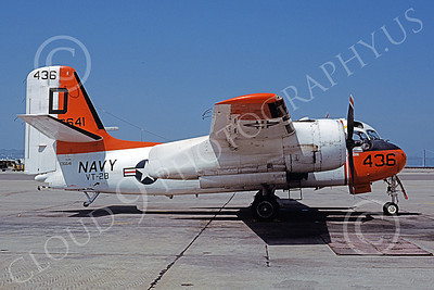 S-2USN 00031 A static Grumman TS-2A Tracker USN 136641 VT-28 RANGERS NAS Alameda 5-1978 military airplane picture by Michael Grove, Sr