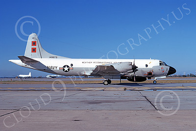 WP-3USN 00001 A static Lockheed WP-3 Orion USN 149675 VW-4 HURRICANE HUNTERS NAS Jax 1-1973 military airplane picture by L B Sides