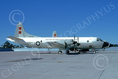 WP-3USN 00003 A static Lockheed WP-3 Orion USN 150496 VW-4 HURRICANE HUNTERS NAS Jax 11-1973 military airplane picture by L B Sides