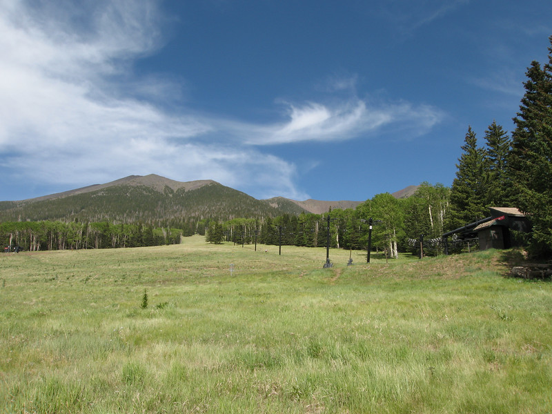 View of Humphreys Peak from the trailhead. Photo taken in June 2007.