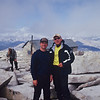 Scott and Bo on the summit.