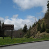The turnoff for Clingmans Dome at Newfound Gap.