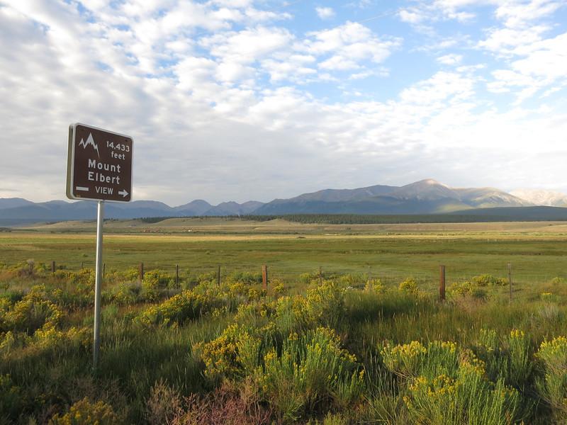 View of Elbert from Hwy24.