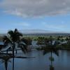 View of Mauna Kea from room 444 of the Hilo Hawaiian Hotel.
