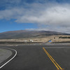 Mauna Kea from the intersection of Saddle Road and John A. Burns Way (summit access road).