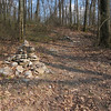 The trail begins at a cairn.