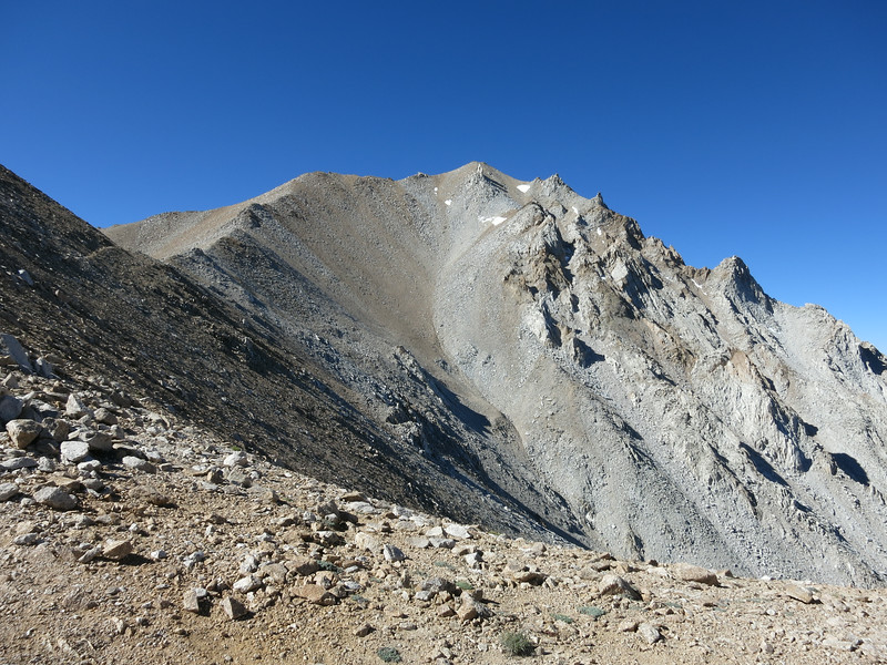 Boundary Peak is still about 1100 ft above the notch.