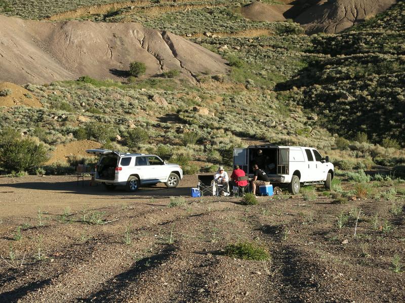 Campsite near Queen Mine.