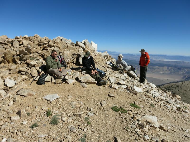 Break time at the notch. Left to right: Steve, Trent, Rick, Jason