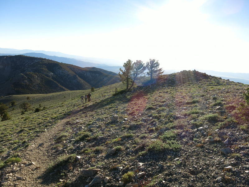 Looking back down the ridge.